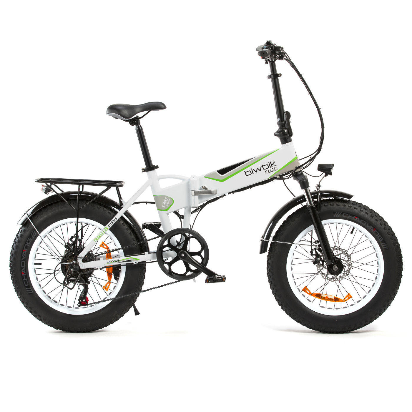 Bicicleta eléctrica plegable Traveller all road white